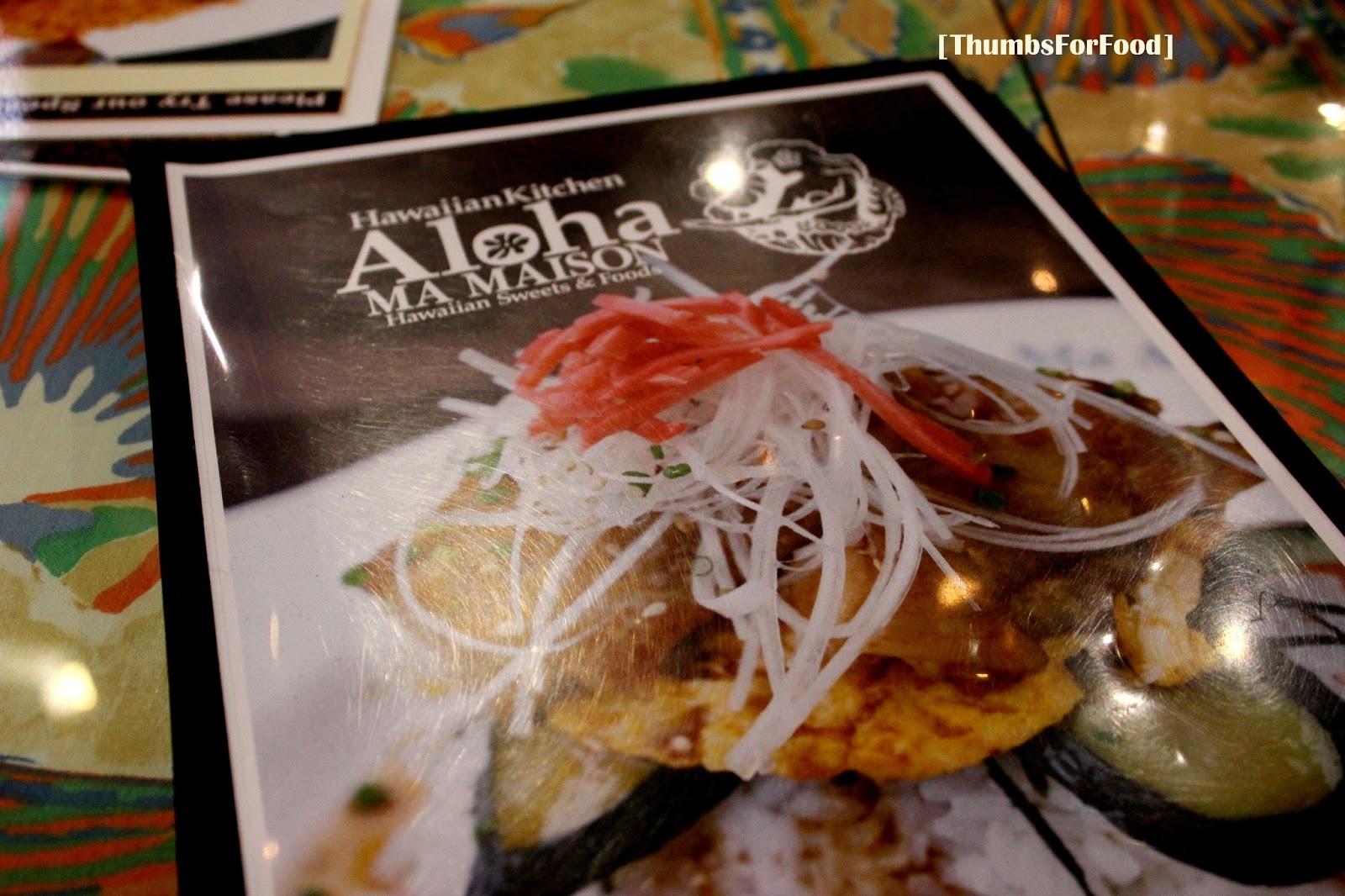 Thumbs for food aloha ma maison bugis thumbsforfood for Aloha ma maison singapore