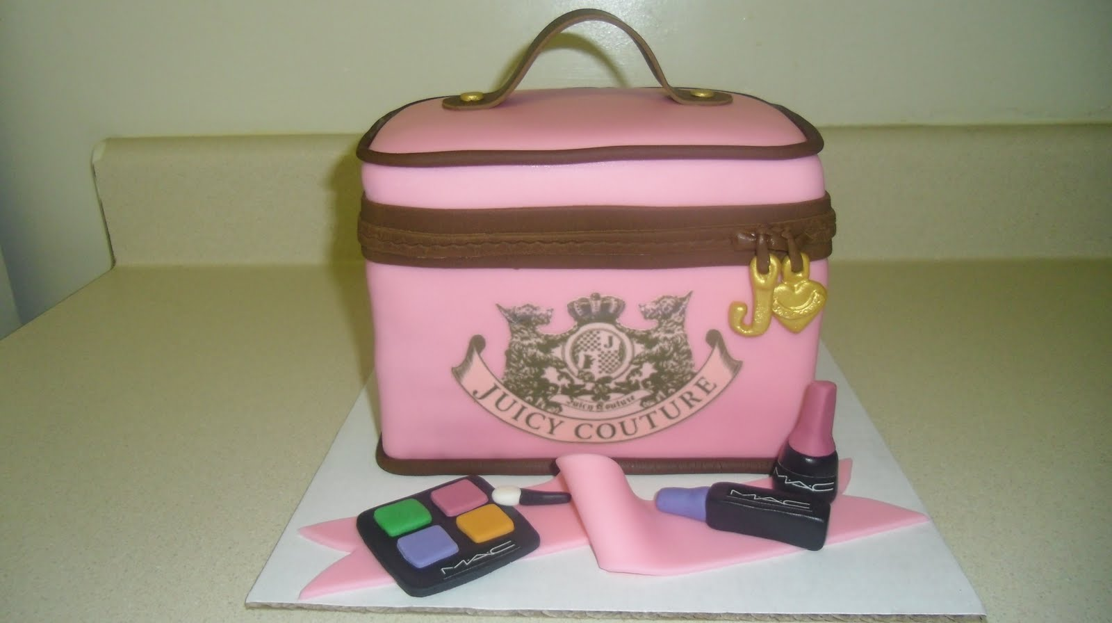 Juicy Couture Cosmetic Bag With Mac Make Up