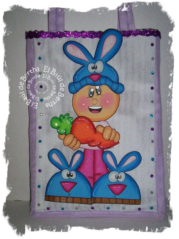 Bolsa en Yute para #Pascua niño disfrazado de #Conejo Fofucho%2BFelicesPascuas%2BBolsaYute%2B%25281%2529