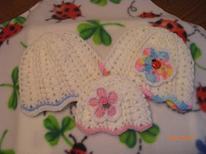 Double post stitch hat
