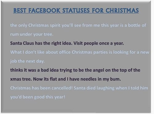 Free Funny Christmas Quotes For Facebook Status