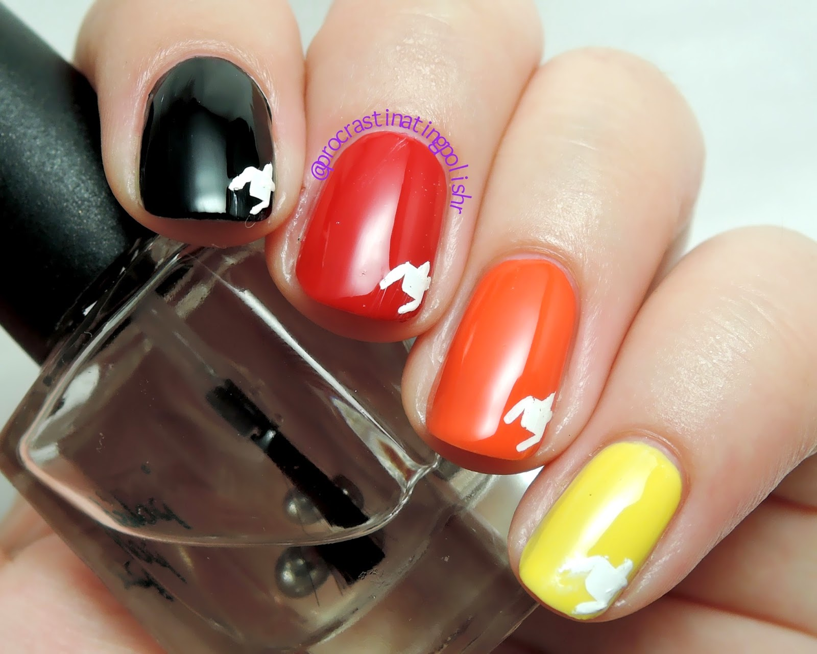 Houndstooth motif nail art #52WPNMC