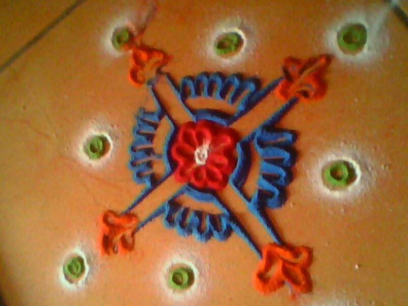 Easy Rangoli Designs 13