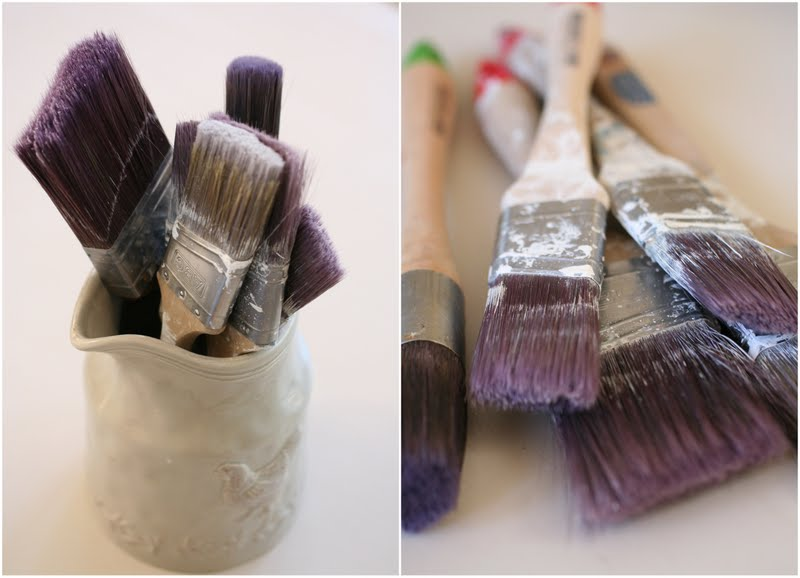 how to clean makeup brushes with vinegar. how to clean your paint brushes with vingear. diy tips from lilyfield life makeup vinegar