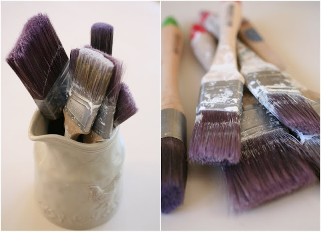 How to clean your paint brushes with Vingear. DIY tips from Lilyfield Life
