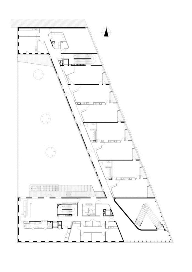Floor plan of the school