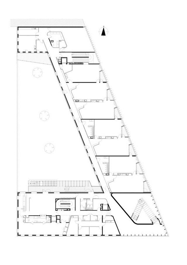 Floor plan of the school