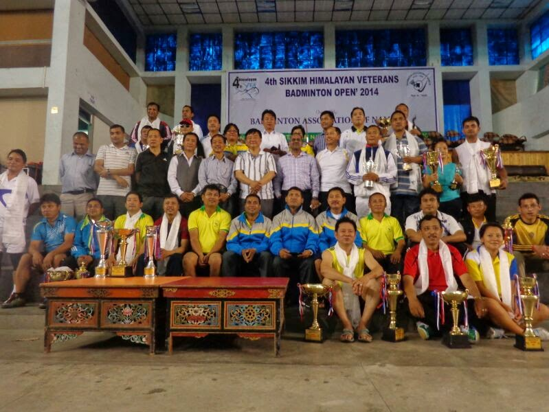 Sikkim Now Sikkim Himalayan Veterans Badminton Tournament Held At