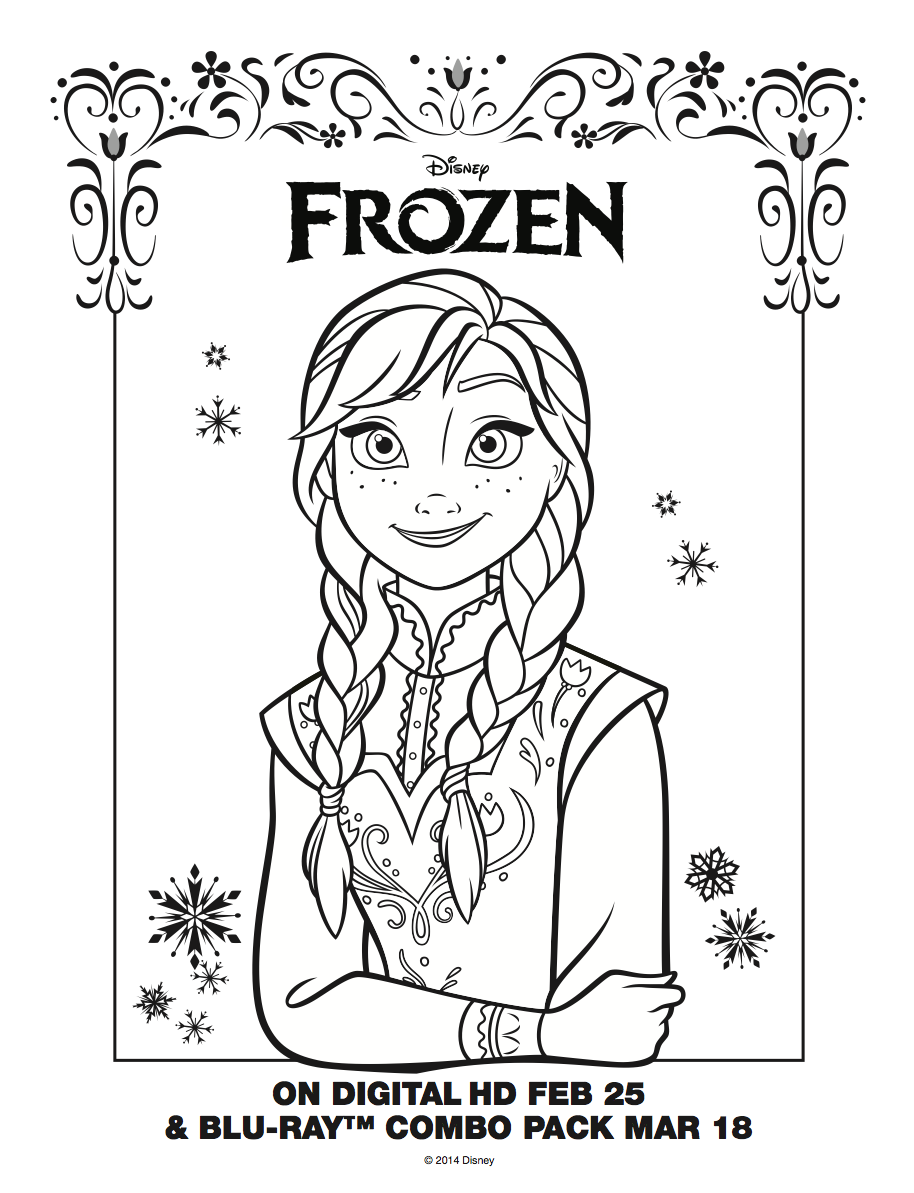 Frozen Ana Free Coloring Pages