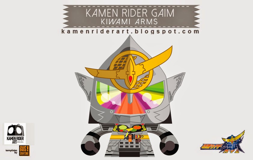 kamen rider series kamen rider gaim ultimate form we presents kamen    Kamen Rider Gaim Lock Seed Papercraft