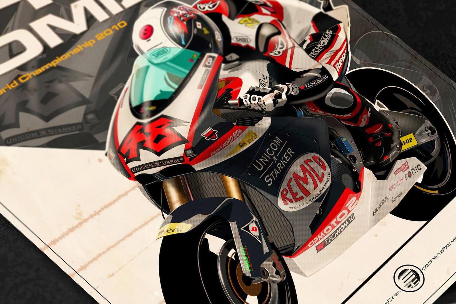 Racing Caf    Motorcycle Art  Evan DeCiren