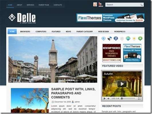 Download Delle WordPress theme