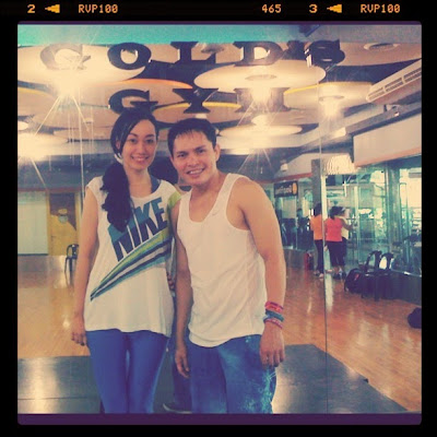 Trisha Sebastian Zumba Fitness with Robert Caguimbal.