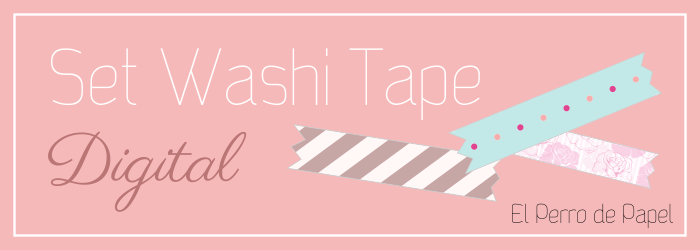 Washi Tape Digital -Colección Rose-