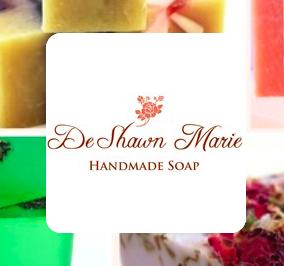Artistically designed handmade soap