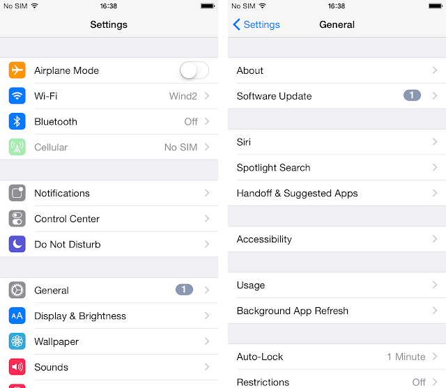 iphone ios update settings