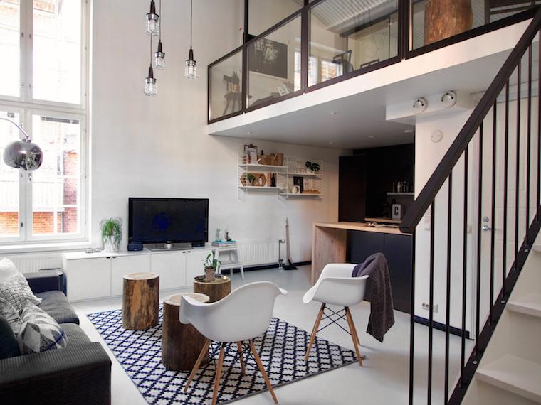 Una vivienda de doble altura tr nsito inicial - Altura de un piso ...
