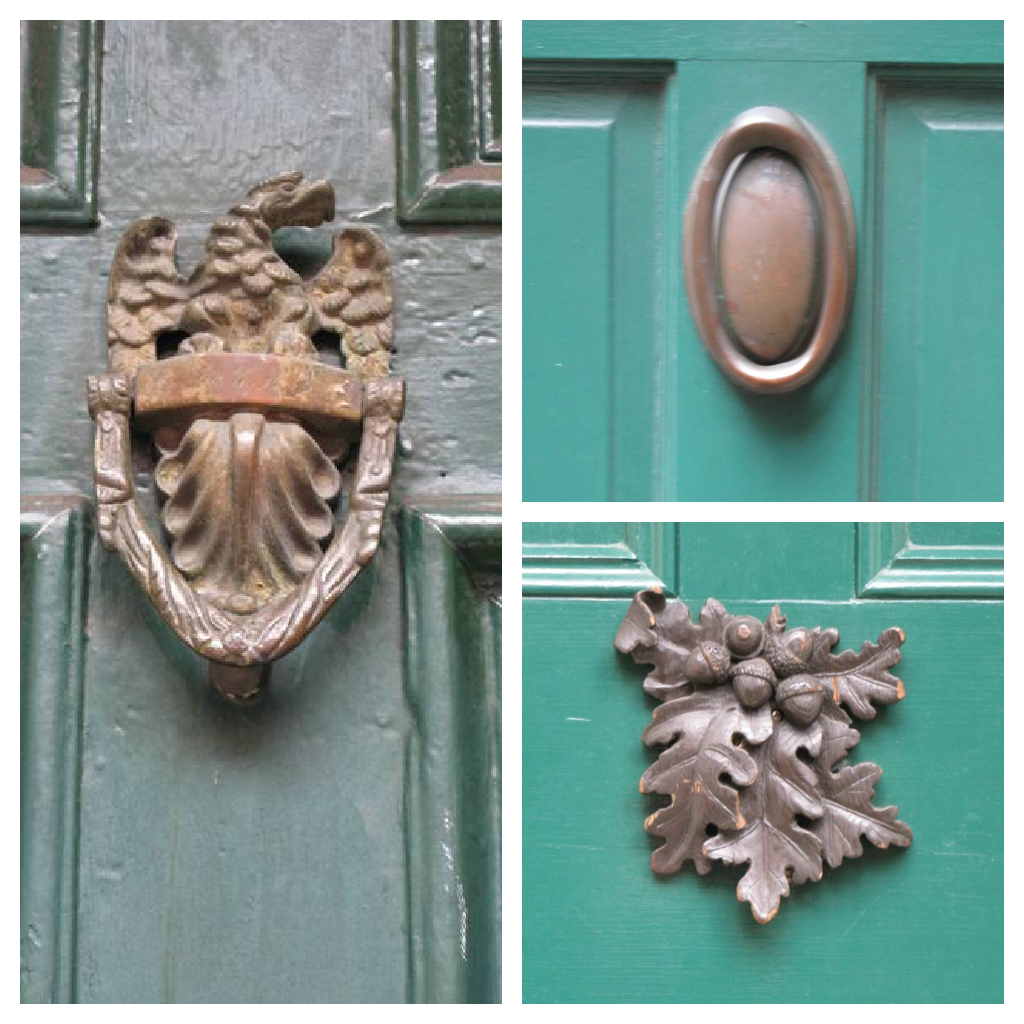 I Love The Egg Shaped Brass And Acorn Decoration On This Robinu0027s Egg Blue  Door.