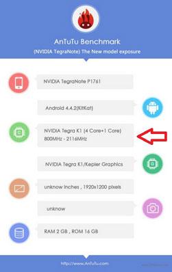 Skor Tegra Note Tablet Muncul di Situs AnTuTu