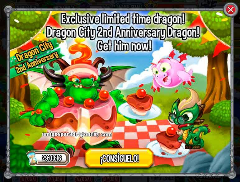 imagen de la segunda oferta de dragon city
