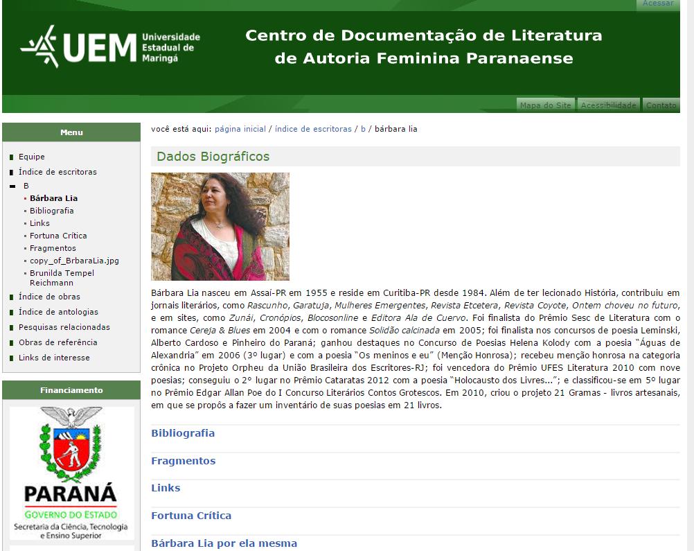 Centro de Documentação de Literatura de Autoria Feminina Paranaense