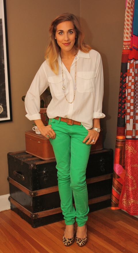 theconcretecatwalk.com : outfit post: green jeans