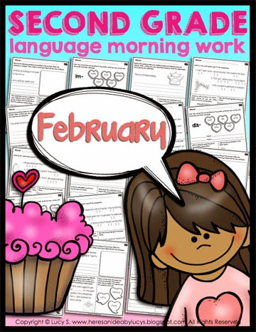Second Grade Language Morning Work:February