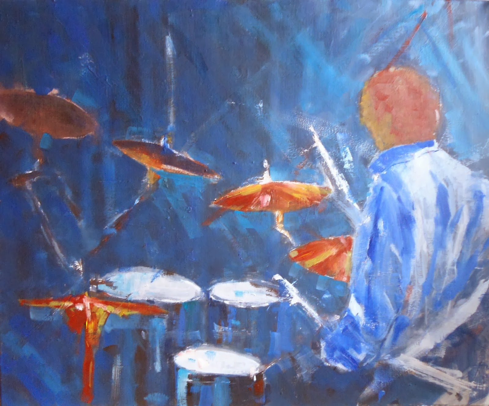 dire straits painting,dire straits,oil on canvas