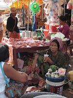 Local market on Quad Adventure Cambodia