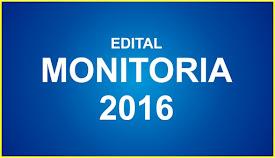 EDITAL DE MONITORIA