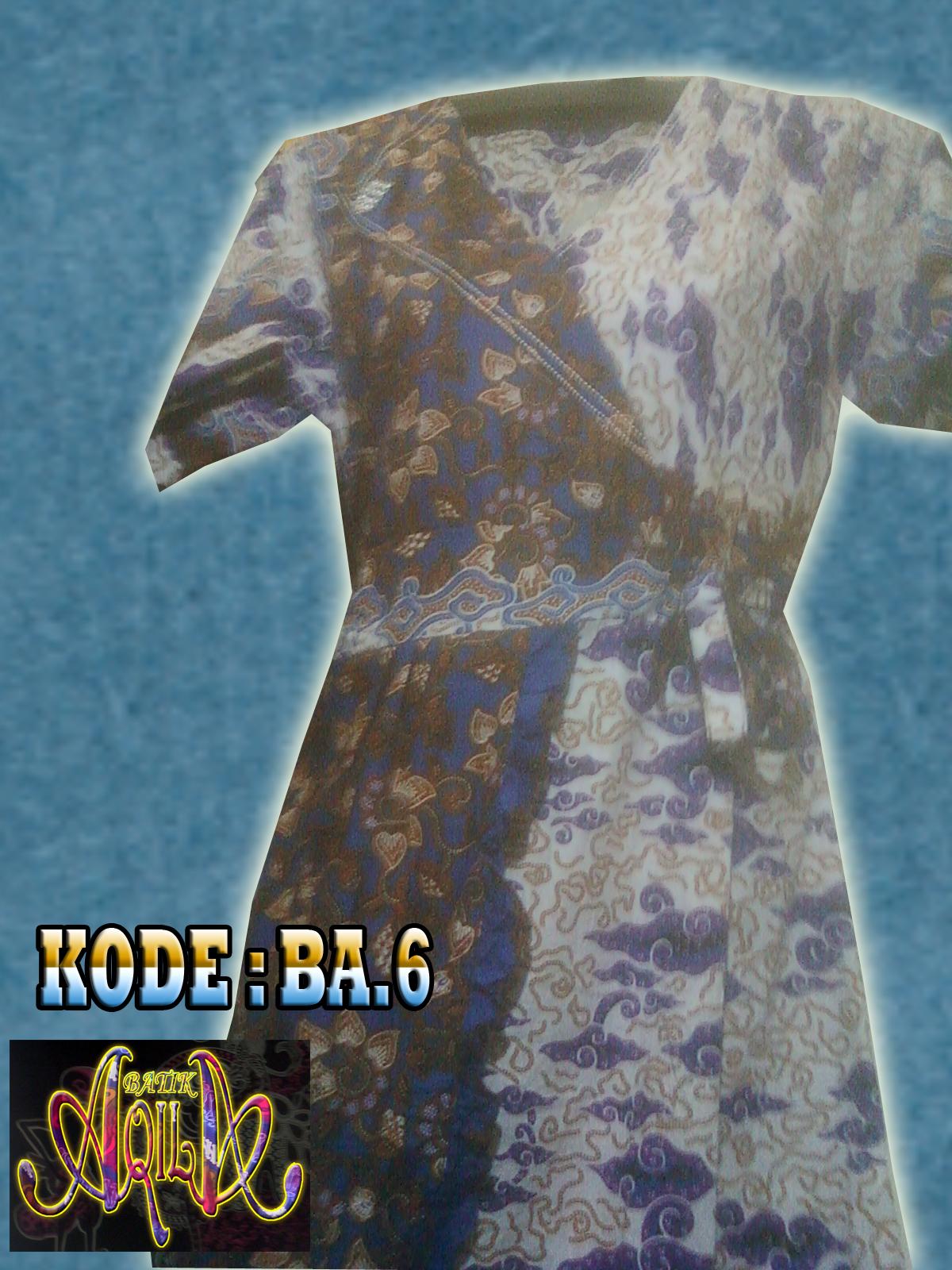 BAJU ATASAN BATIK WANITA KODE BA6, Batik Halus, tidak Panas dipakai, cocok untuk digunakan sebagai baju harian anda untuk waktu bersantai anda. SPECIAL PRICE Rp. 55.000/potong, informasi hubungi : 085742125550 (Indosat) / 082329133113 (Telkomsel) , http://batikaqila.blogspot.com