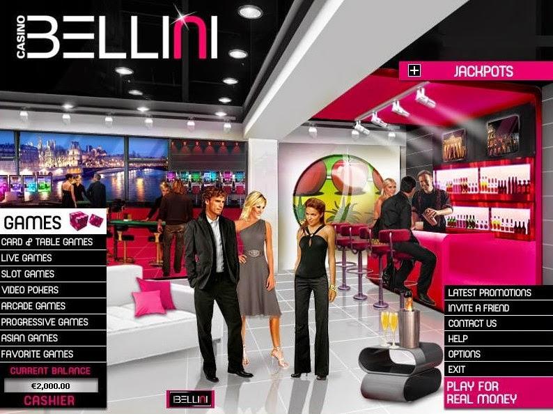 Casino Bellini Home Screen