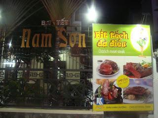 Carne de avestruz. Ciudad de Ho Chi Minh (Vietnam)