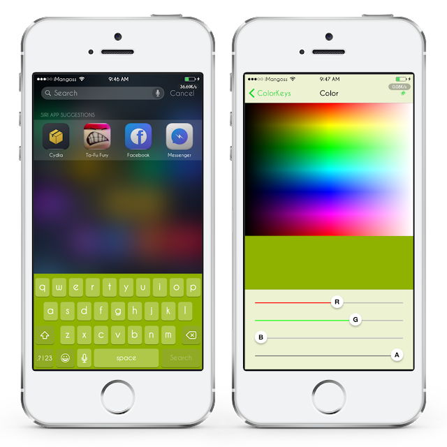 sn't it beautiful when you can customize the color of your iDevice's keyboard? Well there is already a new tweak available in Cydia which allows you to change the color of your keyboard