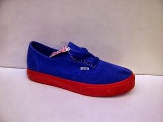 Sepatu Vans Authentic Classic HF warna biru murah