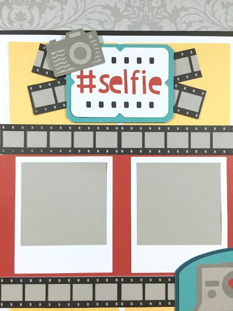 Cricut Artistry #selfie scrapbook layout