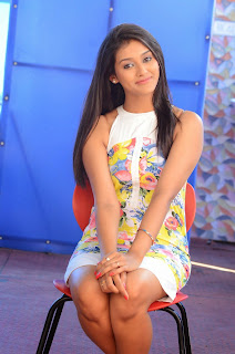Actress Pooja Jhaveri Latest Picture Shoot Gallery in Floral Short Dress  014.JPG