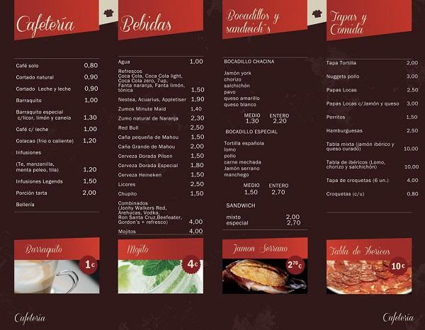 Carta cafeteria cine v ctor caminante creativo for Disenos de menus para cafeterias