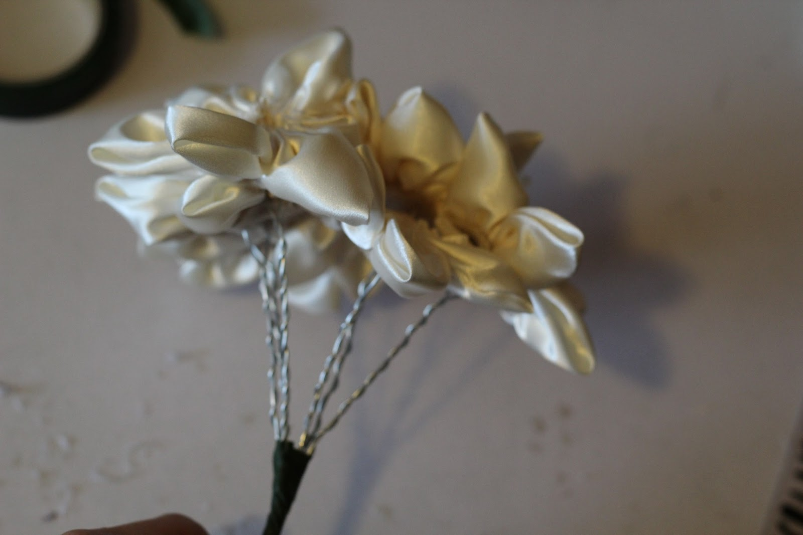 how to make a fabric flower bouquet tutorial