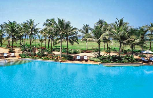 Taj Exotica Goa Best 5 Star Hotels in Goa Beach