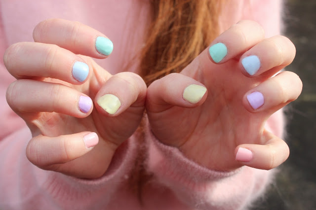 pastel nail polish