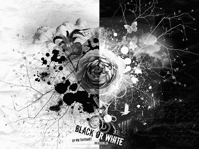 black white- flowers - hd 3d - abstrack wallpapers