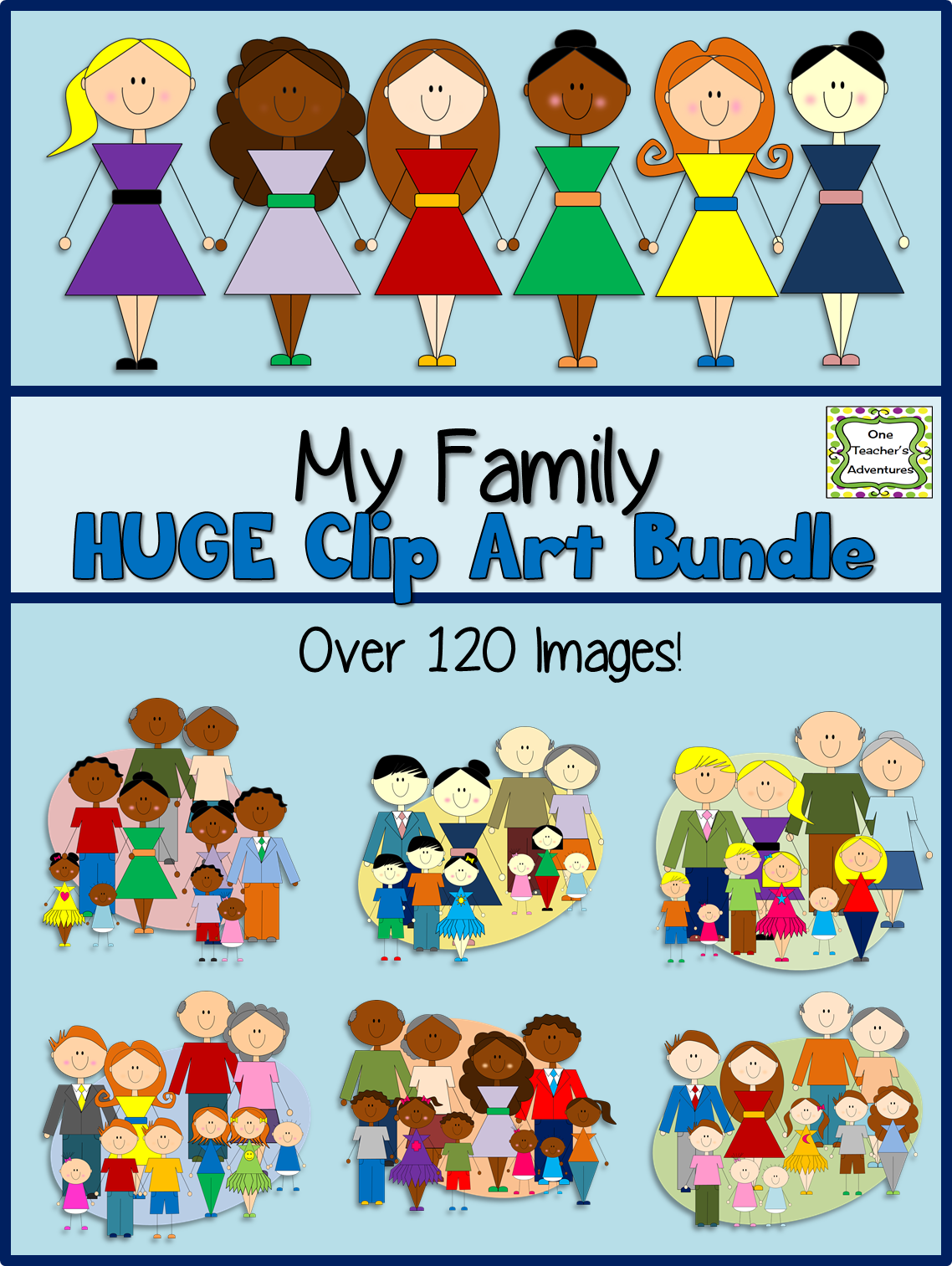 http://www.teacherspayteachers.com/Product/My-Family-Clip-Art-BUNDLE-Six-Clip-Art-Sets-in-One-1393427