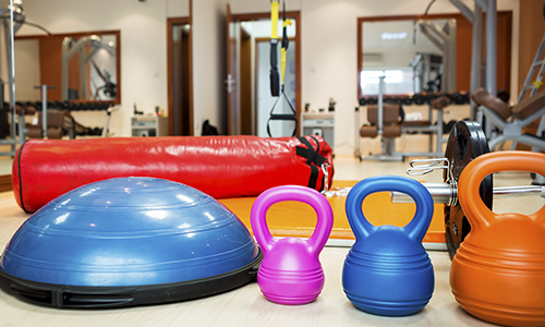 Join a gym - gym equipment in a gym setting.