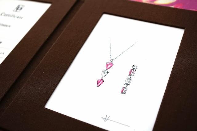 出来上がった寿永r-にはデザイナー直筆のデザイン画が添えられました。