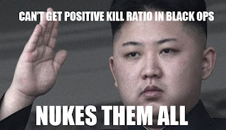 Can't get a positive kill ratio in Black Ops. Nukes them all.