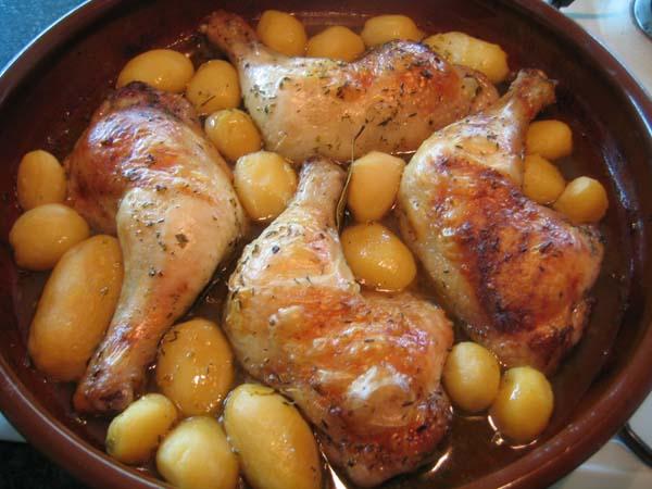 Pechugas de pollo con papas abanico receta tattoo design - Pechugas de pollo al horno ...
