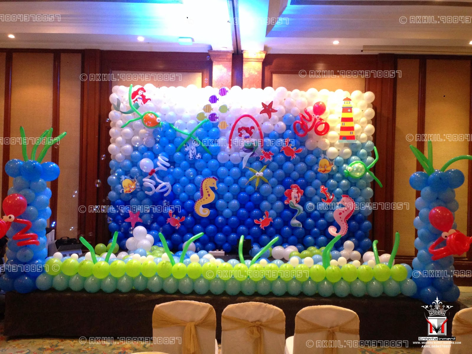 Modern event makers akhil 9884378857 december 2014 for Balloon decoration in chennai