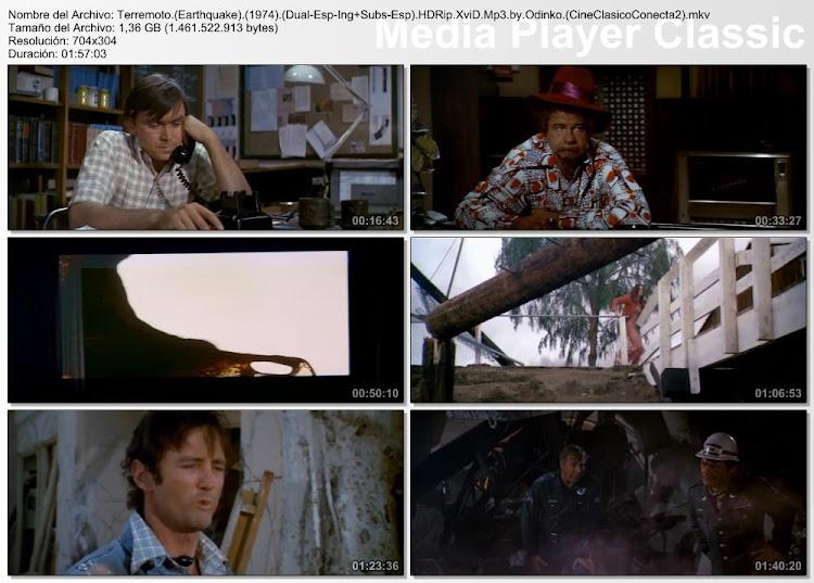 Imagenes secuanciales de la película:  Terremoto | 1974 | Earthquake