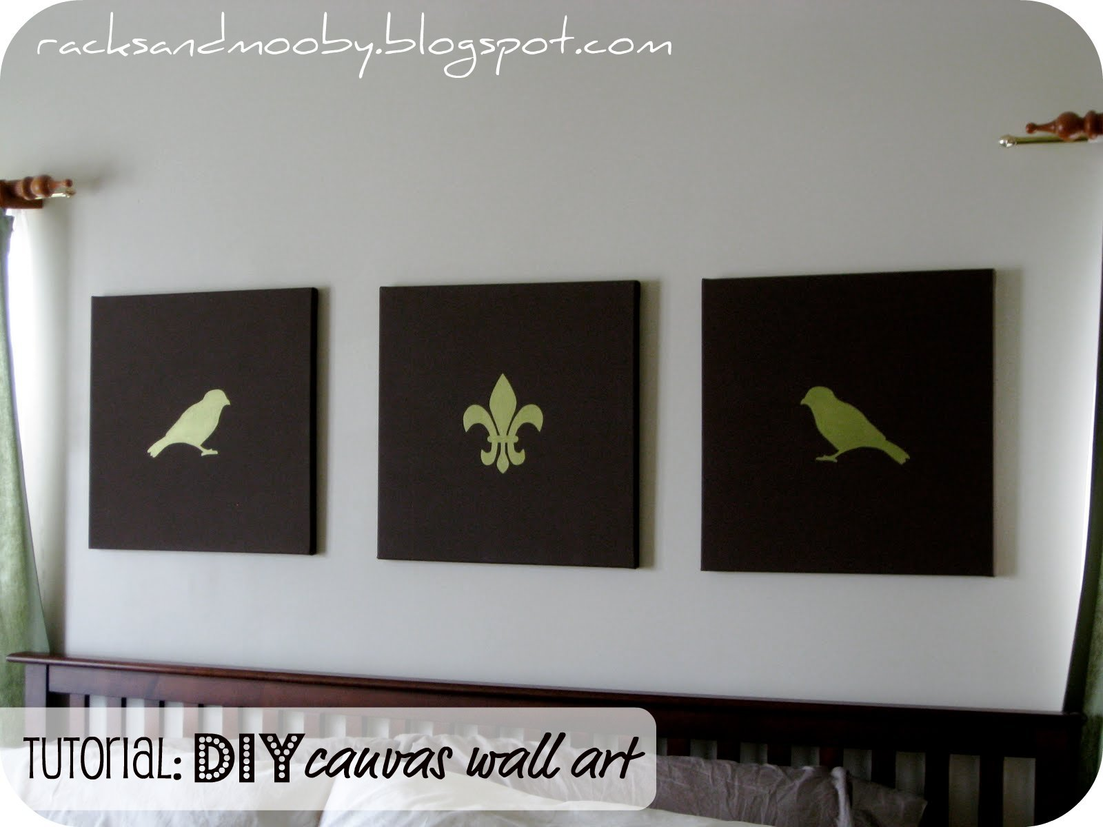 RACKS and Mooby: DIY Canvas Art {tweet tweet